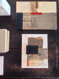 "pragmata-gallery:  ""Cubism"" Collage paintings by Yoko Inoue,..."