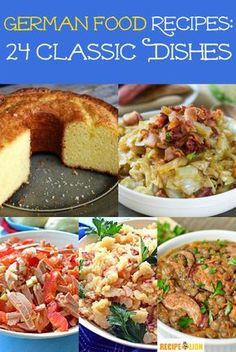 German Food Recipes: 24 Classic Dishes | German recipes make for some of the best dinner recipes (especially during the winter). These dishes are so hearty!