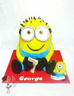 Minion Birthday Cake by Cheryl's Signature Cakes, Canberra, ACT, Australia. You'll find this Cake Appreciation Society Member in our Directory at www.cakeappreciationsociety.com