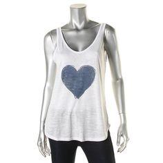 Nation Ltd. Womens Graphic Heart Tank Top