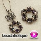 Tutorial - Video: How To Bead Weave a Flower Shaped Wreath | Beadaholique