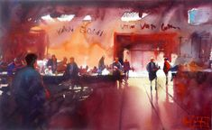 Alvaro Castagnet 1954   Uruguay   pintor expresivo Acuarela  