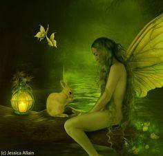 Sweet Woodland Fairy by Jessica Allain
