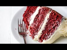 The Most Amazing Red Velvet Cake recipe is moist, fluffy, and has the perfect balance between acidity and chocolate. Top it off with cream cheeses frosting for the perfect Red Velvet Cake you've been dreaming of! Homemade Cake Recipes, Best Cake Recipes, Dessert Recipes, Cupcake Recipes, Milk Recipes, Ube Chiffon Cake Recipe, Moistest Red Velvet Cake Recipe, Fun Cooking, Cooking Recipes