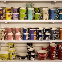 Moomin cups. Royal Design, Moomin, Stockholm, Sweden, Coffee Mugs, Table Settings, Candles, Ceramics, Spaces