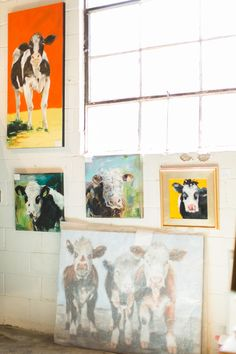 Learn interior designer Brian Patrick Flynn's process in selecting stunning local art for the HGTV Urban Oasis Dave Willis, Hgtv, Bold Colors, Art Pictures, Oasis, The Selection, Urban, Asheville, Cows