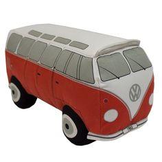 Campervan Gift - Volkswagen 3D Red Campervan Cushion, (http://www.campervangift.co.uk/volkswagen-3d-red-campervan-cushion/)