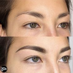 Henna Eyebrows, Permanent Makeup Eyebrows, Eyebrow Makeup, Eyeliner, What Is Ombre, Eyebrow Before And After, Eyebrow Styles, Diy Tattoo Permanent, Brow Powder