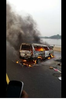 Clockwise News: One Dead as Commercial Bus Catches Fire