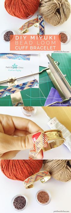 Have you ever wondered how to make these pretty bead loom bracelets? Follow this step by step tutorial to learn this easy technique and create beautiful cuff bracelets with miyuki beads.