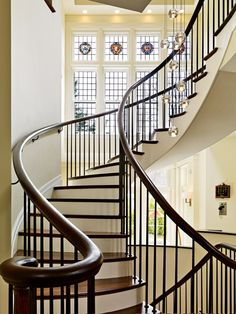 Beautiful winding stairway. Wow. Wouldn't we feel like queens walking down these stairs:)
