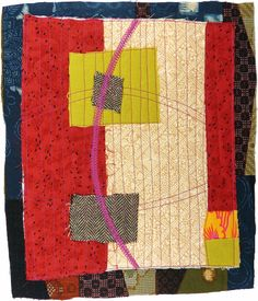 small art quilt contemporary abstract by KarenAnneGlick