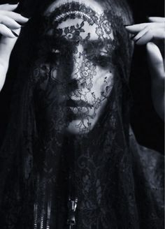 Transgender Super Model Lea T in a veil portrait