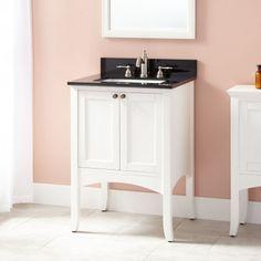 "24"" Cadmon Vanity for Rectangular Undermount Sink - White"