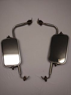 Vintage Ford Truck West Coast Stainless Mirrors Pair OEM Fomoco