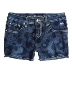 Allover Floral Printed Denim Shorts | Bottoms | New Arrivals | Shop Justice