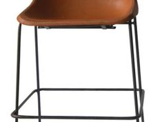 Giron bar stool by Sol & Luna - Different Like a Zoo Leather Cover, Brown Leather, Furniture Retailers, Oak Table, French Oak, Metal Chairs, Natural Leather, Teak, Bar Stools
