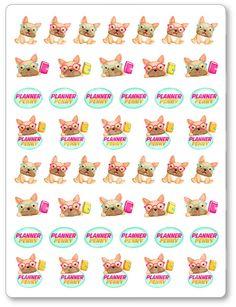 Planner Penny Logos/Mascot Planner Stickers for Erin Condren Planner, Filofax, Plum Paper