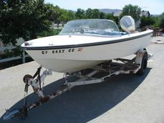 fixing and restoring my first boat glasspar Avalon ski boat) Speed Boats, Power Boats, Cabin Cruiser Boat, Glass Boat, Runabout Boat, Boat Restoration, Make A Boat, Ski Boats, Boat Projects