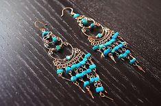Green Chandelier Earrings - Handmade Jewelry, Earrings For Women, Unique Jewelry