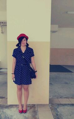 #red #polkadots #dress #ootd #outfits #style