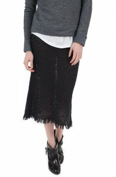 We are sheer-iously in love with the Joliet Skirt ($310) by Isabel Marant #isabelmarant #skirts #sheer #holidayoutfit