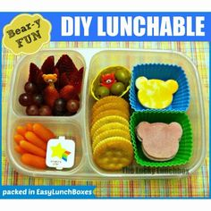 Bear-y fun DIY Lunchable | packed in @EasyLunchboxes containers
