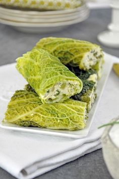 Green cabbage cannelloni and fine poultry stuffing - Trent Lannen Batch Cooking, Cooking Recipes, Ham Recipes, Recipies, Healthy Breakfast Potatoes, Healthy Vegetable Recipes, Good Food, Yummy Food, Salty Foods