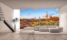 Desert in Bloom Wall Mural ILLUSTRATOR Pinterest Wall murals
