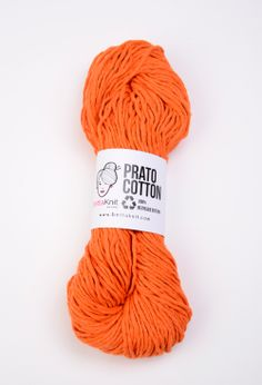 Prato Cotton - Orange                                                               100% recycled - 100% ecological  www.bettaknit.com