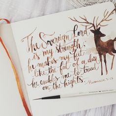"""""""The Sovereign Lord is my strength, He makes my feet like the feet of a deer, He enables me to tread on the hights."""" Habakkuk 3:19 » Oana Befort"""