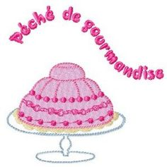 Instant download French cake  embroidery design by AliceBroderie