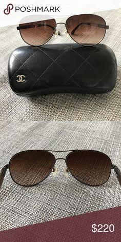 155313201fbf Chanel Aviator Sunglasses Chanel aviator sunglasses with Chanel case
