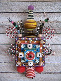 Wall Bling 9  Found Object Wall Art by by FigJamStudio on Etsy, $85.00