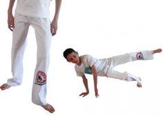 Pantalon de capoeira-Abada officiel Sdobrado Blanc-ENFANT