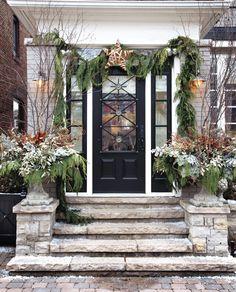 Elegant Festive Entryway