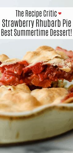 A sweet, tart fruit filling and golden, flaky crust make this Strawberry Rhubarb Pie the dessert of the summer. With a pie this fresh and decadent, you won't want store-bought again! Rhubarb Desserts, Rhubarb Recipes, Fruit Recipes, Cheesecake Recipes, Dessert Recipes, Cooking Recipes, Strawberry Frosting Recipes, Strawberry Rhubarb Cobbler, Desert Recipes