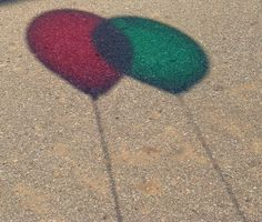 shadow balloons red & green ~ by trish1380