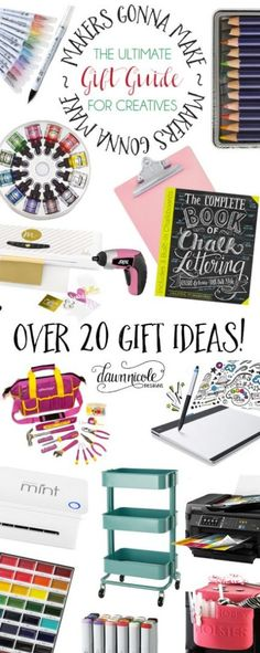 The Ultimate Gift Guide for Creatives! Over 20 gifts ideas at various price levels.   dawnnicoledesigns.com