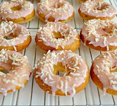 Cherry Coconut Donuts from Kitchen Meets Girl