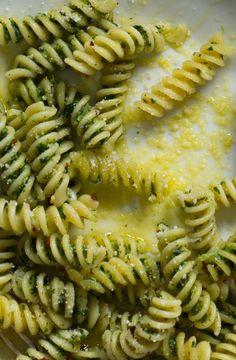 Pasta with Broccoli Rabe Pesto & Pecorino #Recipe