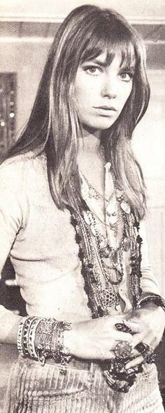 Jane Birkin bohemian boho style hippy hippie chic bohème vibe gypsy fashion indie folk