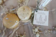 Gold & Ivory Macaron Favor