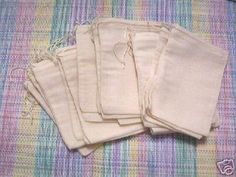 50+count+4x6+Cotton+Muslin+Drawstring+Bags+Bath+by+CelestialGifts,+$12.00