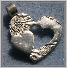 Lovely hand made heart pendant & truly UNIQUE