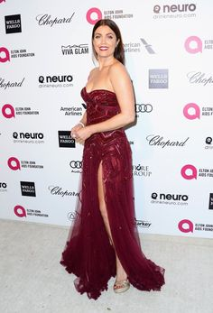 Pin for Later: The Oscars Party Started at Elton John's Star-Studded Bash Bellamy Young