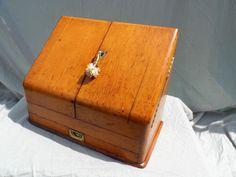 Antique Oak Stationary Cabinet Writing Box