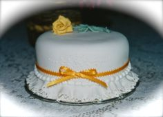 Many Many years ago....my first fondant cake...lets add another many....