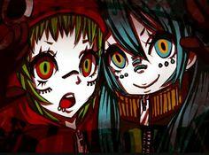 Hatsune Miku & Gumi in- Matryoshka.  I absolutely love this song <3