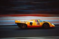 Le Mans 1970. The Gijs van Lennep (NL) / David Piper (GB) Porsche 917K #021 entered by Team AAW (enlarge). Schlegelmilch Photography.-